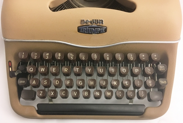 "Triumph ""Kwik-Riter"" from the keyboard..."