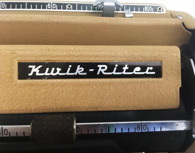 "Triumph ""Kwik-Riter"" logo detail..."
