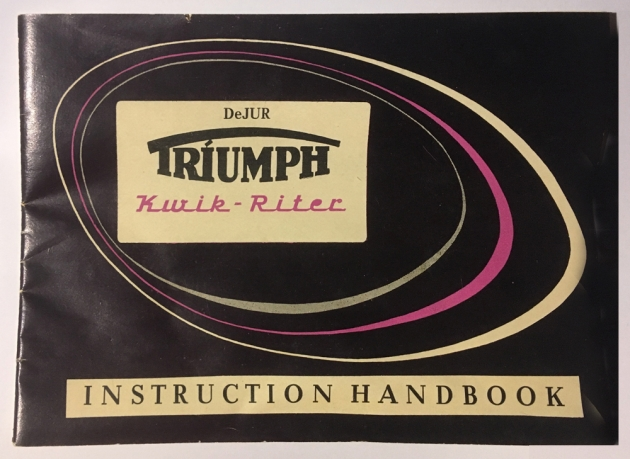 """Triumph """"Kwik-Riter"""" The typewriter came with this 16 page instruction manual..."""