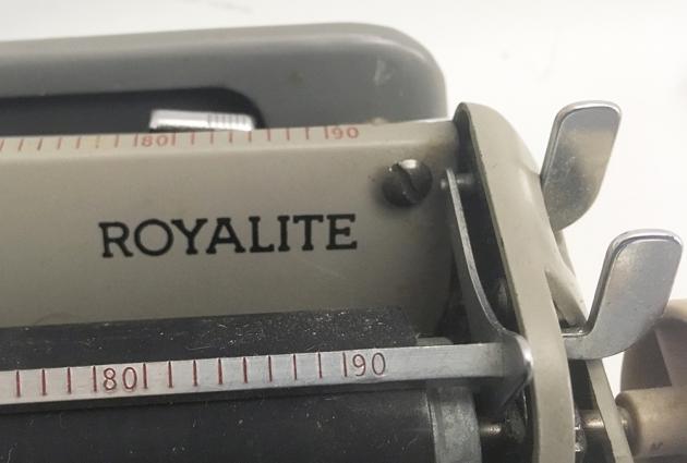 """Royal """"Royalite"""" model name on the top..."""