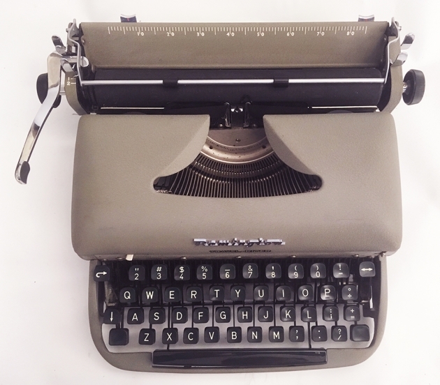 "Remington ""Travel-Riter"" from the top..."