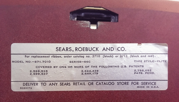 "Sears ""Celebrity"" from the bottom (detail) ..."