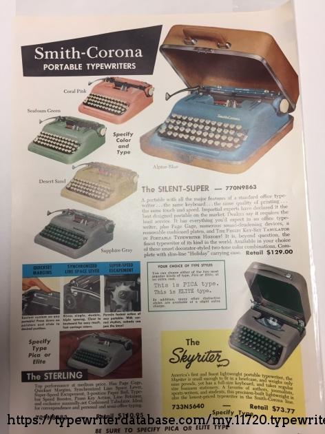 Smith Corona Brochure