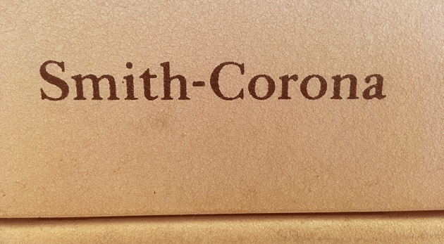 "Smith-Corona ""Silent Super"" from the back (logo detail)..."