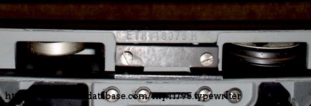 Serial Number ETR118073H