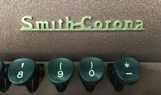 """Smith-Corona """"Sterling"""" logo on the top..."""
