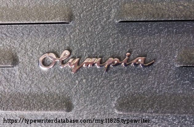 """Olympia """"SG1"""" from the back (logo detail)..."""