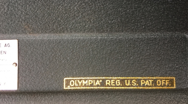 """Olympia """"SG1"""" from the back (decal detail)..."""
