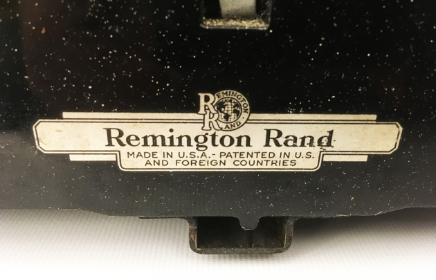 "Remington ""Model 1"" from the back...(detail)"