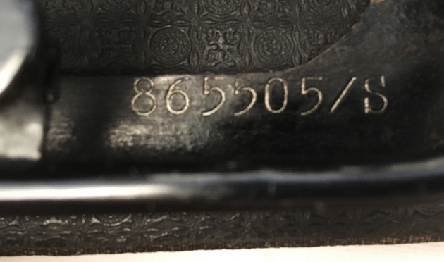 Seidel & Nauman Erika Modell S serial number location...