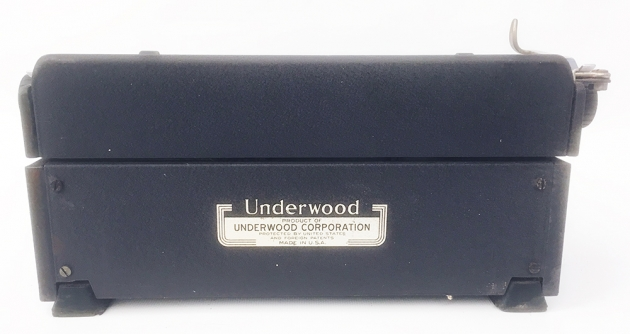 "Underwood ""Universal"" from the back..."