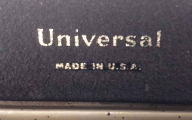 "Underwood ""Universal"" model name..."