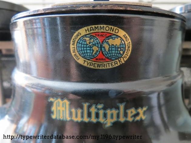 The Hammond Multiplex frontispiece
