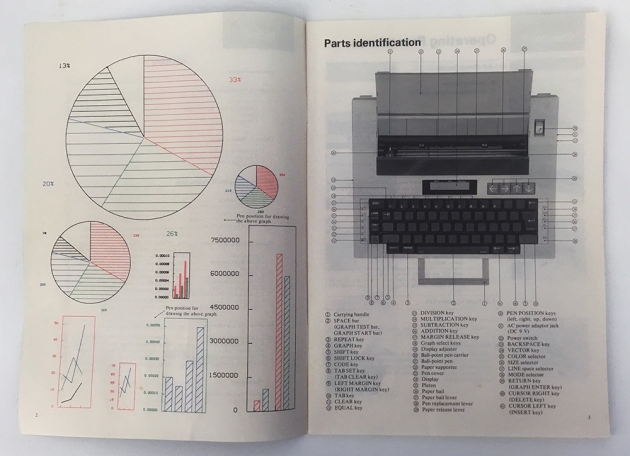 Brother Type-O-Graph manual. (detail)