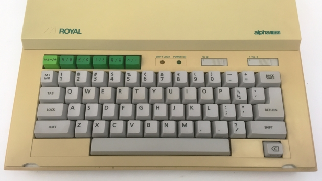 """Royal """"Alpha 100"""" from the keyboard..."""