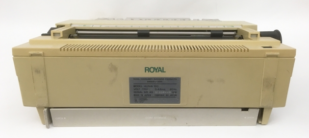"""Royal """"Alpha 100"""" from the back..."""