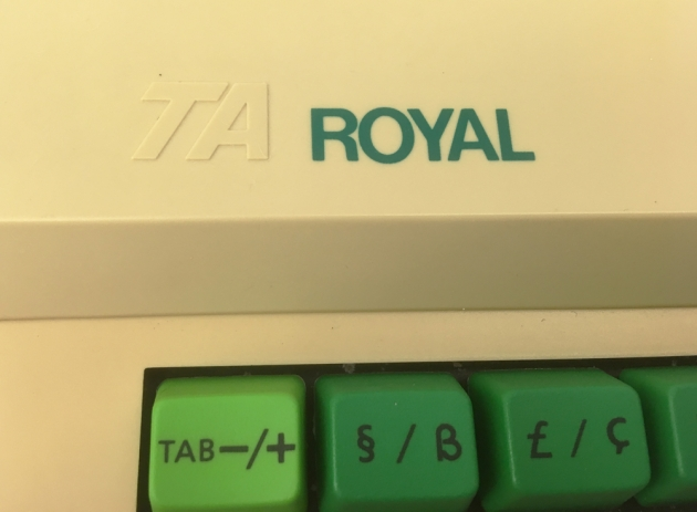 """Royal """"Alpha 100"""" logo from the top left..."""