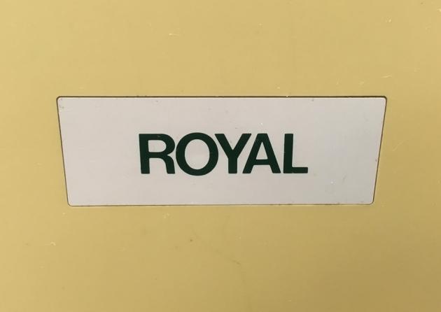 """Royal """"Alpha 100"""" outside logo..."""