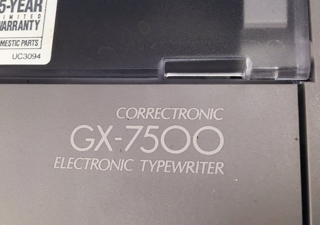 "Brother ""GX-7500"" from the model logo on the top..."