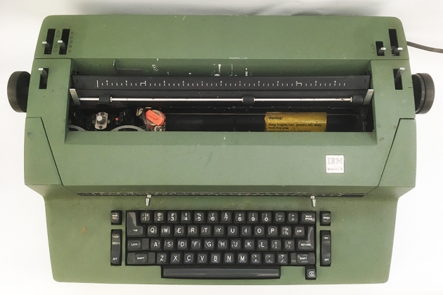 """IBM """"Selectric II"""" from the top..."""