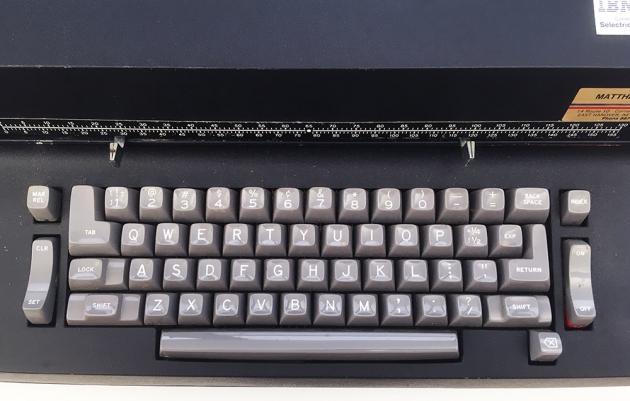 "IBM ""Selectric II"" from the keyboard..."
