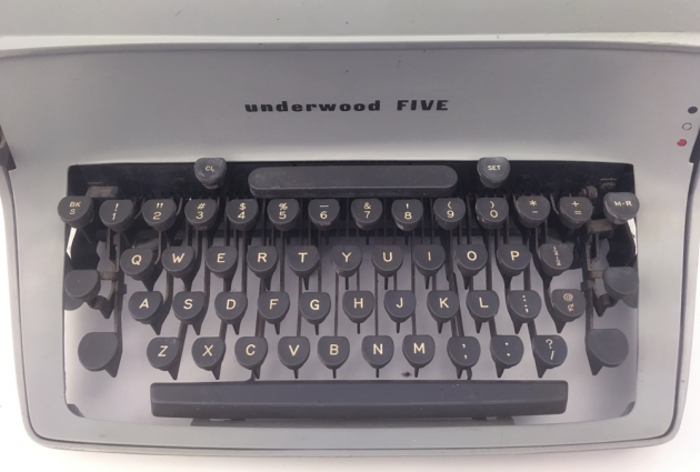 "Underwood ""Five"" from the keyboard..."