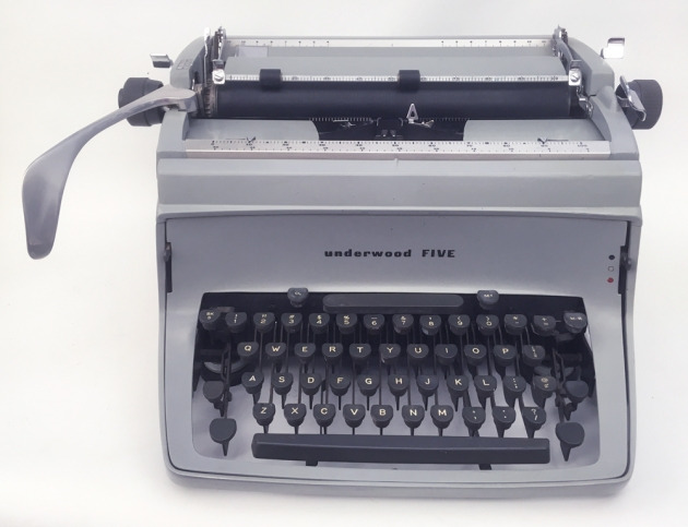 "Underwood ""Five"" from the front..."