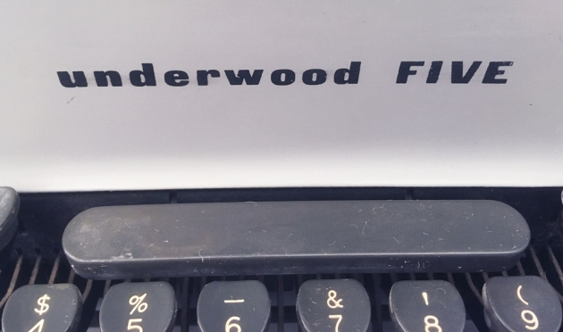 "Underwood ""Five"" Logo on the front ..."