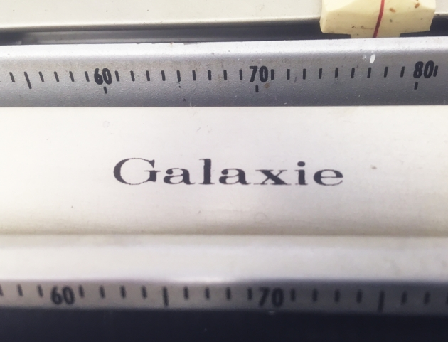 """Smith Corona """"Galaxie"""" from the top (model name) ..."""