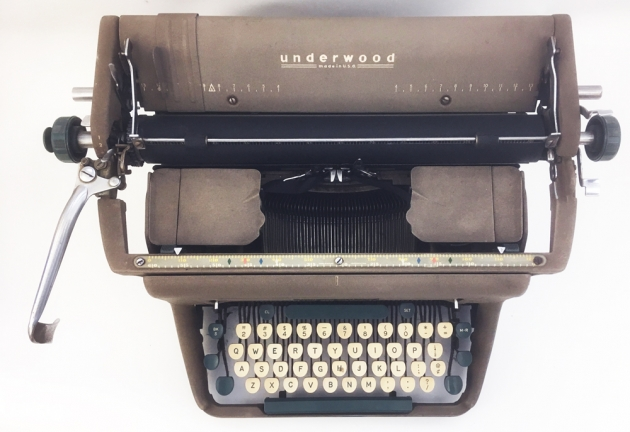 """Underwood """"SX"""" from the top..."""
