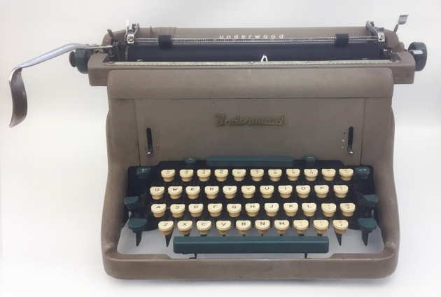 """Underwood """"SX"""" from the front..."""