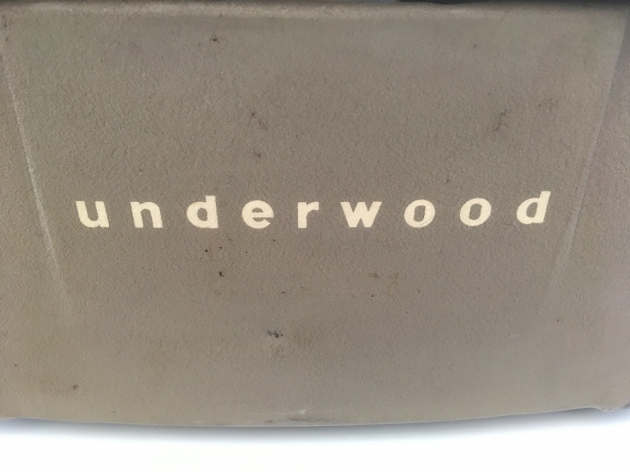 """Underwood """"SX"""" from the back (detail)..."""