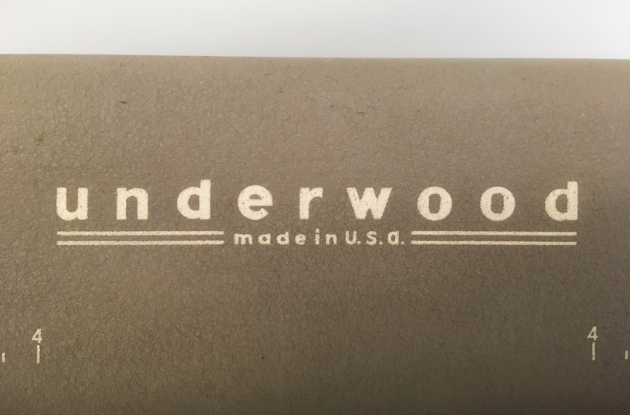 """Underwood """"SX"""" logo from the top..."""