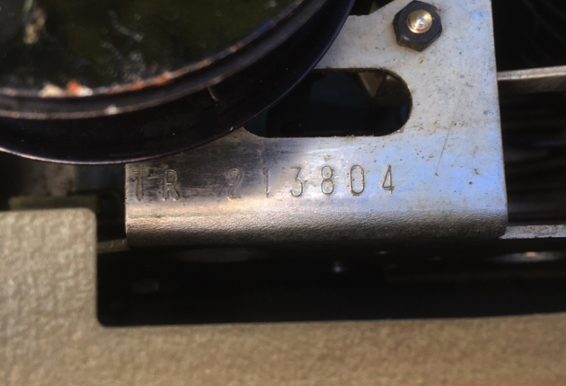 "Remington ""Travel-Riter"" serial number location..."