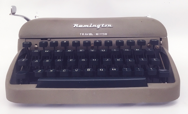"Remington ""Travel-Riter"" from the front..."