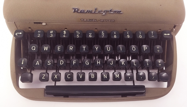 "Remington ""Travel-Riter"" from the keyboard..."