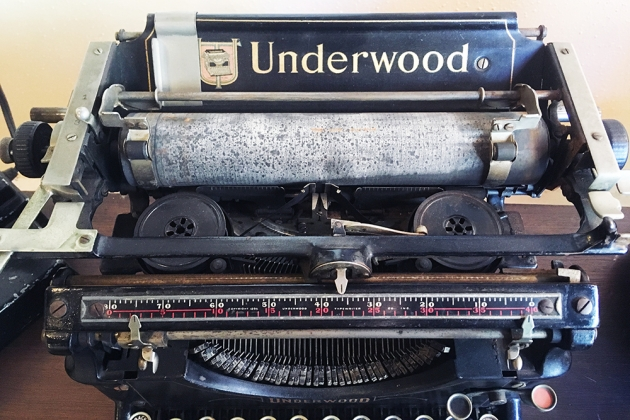 "Underwood ""#5"" from under the hood..."