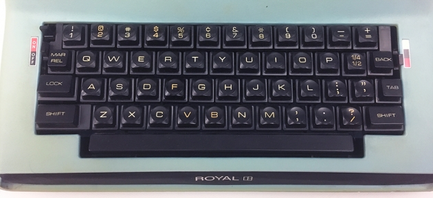 "Royal ""Saturn"" (SP-8 000) from the keyboard..."