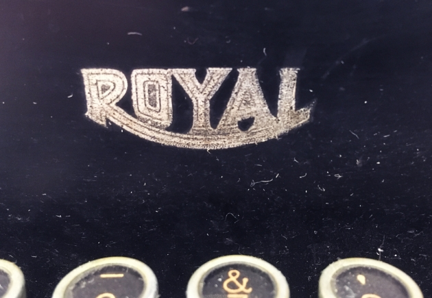"Royal ""KHM"" logo on the front plate..."