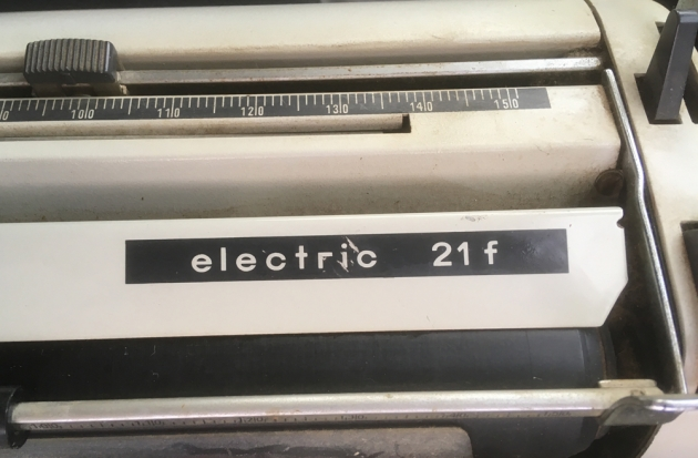 "Adler Electric ""21 f "" Model logo on the front..."