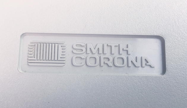 "Smith Corona ""240 DLE "" Logo on the travel cover..."