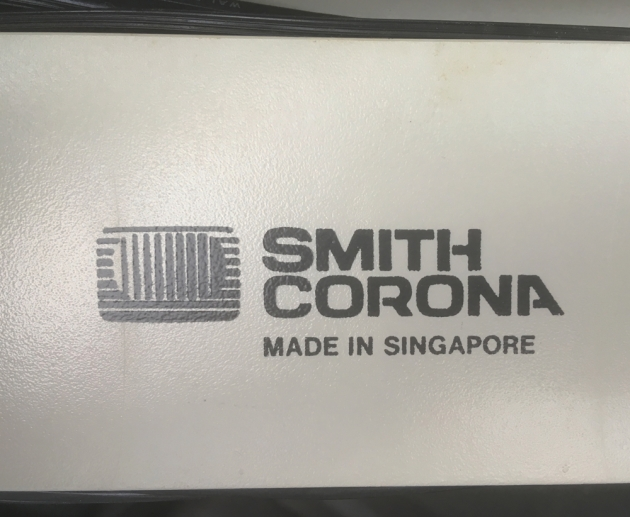 "Smith Corona ""240 DLE "" Logo on the back..."