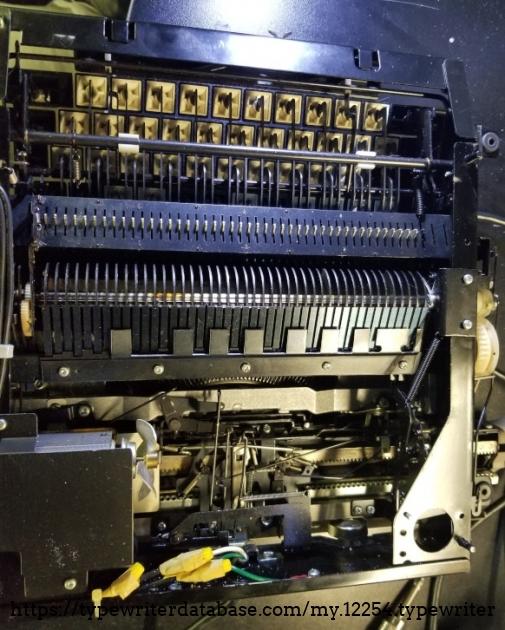 Naked typewriter from below.