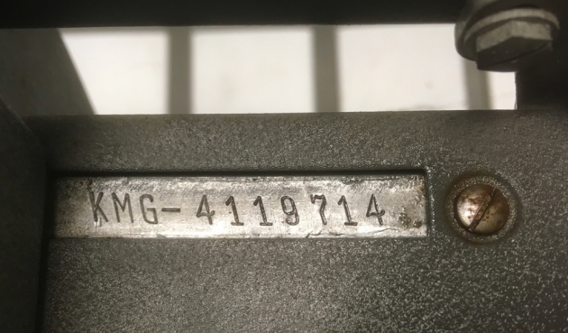 "Royal ""KMG"" serial number location..."