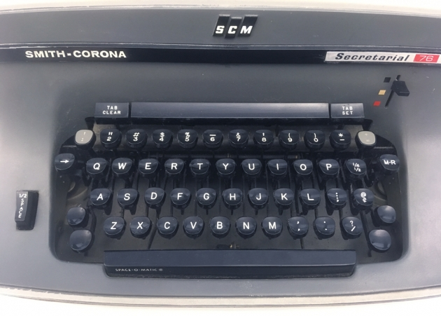 "Smith Corona ""Secretarial 76"" from the keyboard..."
