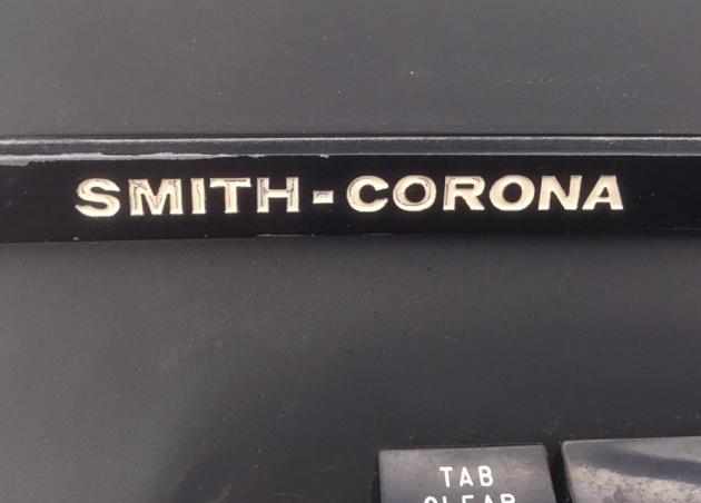 "Smith Corona ""Secretarial 76"" Brand logo on front..."