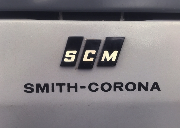 "Smith Corona ""Secretarial 76"" logo on the back..."