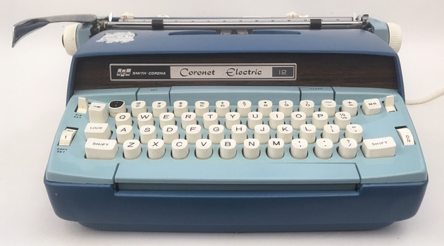 """Smith-Corona """"Coronet Electric 12"""" from the front..."""