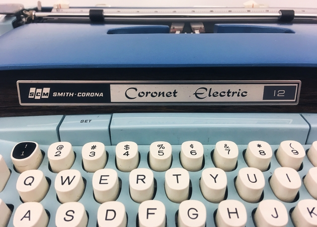 "Smith-Corona ""Coronet Electric 12"" from the front logo..."