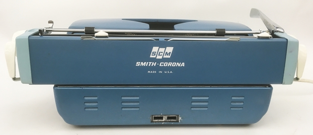 "Smith-Corona ""Coronet Electric 12"" from the back..."